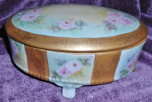 3707 Handpainted Roses Trinket Box