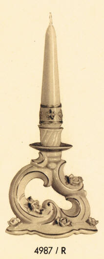 4987/R Candleholder with Raised Roses