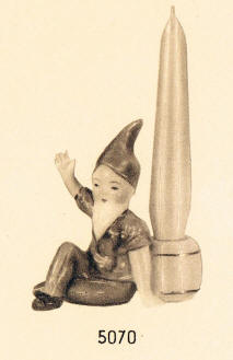 Gnome Candlestick Holder