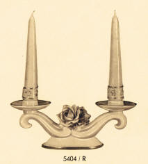 5404/R Double Candleholder with Raised Roses