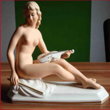 Porcelain Nude with Violin