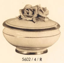 5602/4/R Trinket Box with Rose on Lid