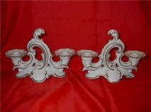 Pair of Double Candleholders