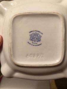 Vintage Schmidt Porcelain Stacking Ashtrays