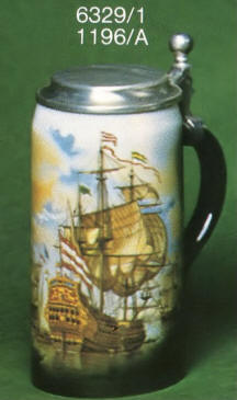 6329/1 Stein with flat lid