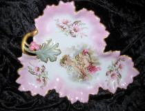 Three Cherubs Leaf Platter
