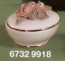 6732-9918 Raised Rose on Lid