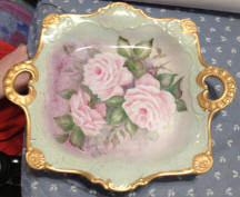 6936 Handpainted Roses Serving Plate