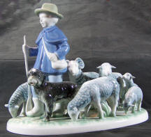 7023 sheepherder with dog and sheep
