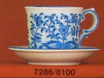 7286 Cup & 8100 Saucer Blue Onion