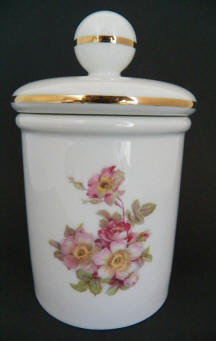 7356/3/A Wild Roses Cotton Ball Container
