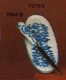 7654/B letter opener; 7279/5 oval dish