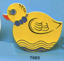 7685 Duck wall plaque