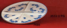 7686 Divided serving dish
