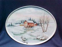 7908 Handpainted Winter Farm Scene