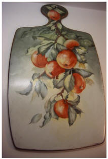 Gerold Porzellan Handpainted Peaches Cutting Board