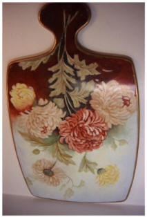 Gerold Porzellan Handpainted Mums Cutting Board