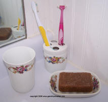 3 piece Floral Bathroom Set