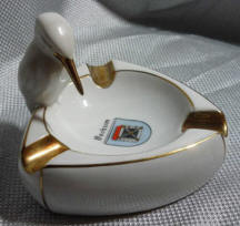 Souvenir Ashtray with Kingfisher