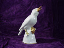 White Bird with Gold Berries