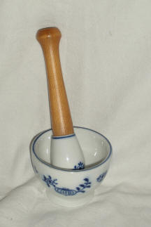 Blue Onion Mortar and Pestal