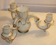 Triple Candleholder with Center Vase