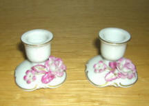 Single Raised Roses Candleholder