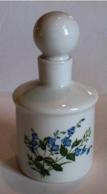 Cruet with handpainted forget-me-nots