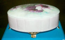 Handpainted Oval Trinket Box