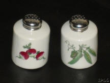 Vegetable Pattern Salt & Paper Shakers