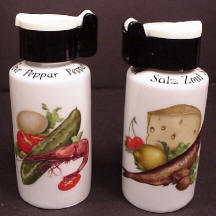 Vegetable Pattern Salt & Pepper Shakers