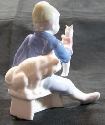 Puppet Boy & Dog back view