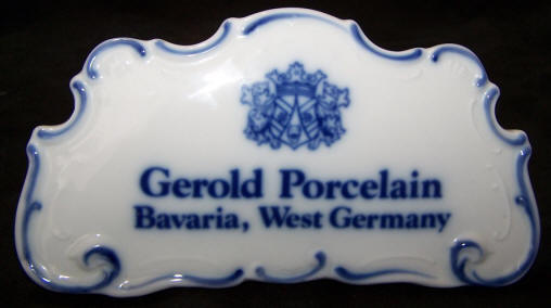 Gerold Dealer Plaque