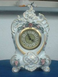 Porcelain Mantle Clock