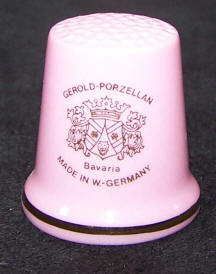 Thimble with Gerold Porzellan Logo