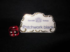 Dealer sign Patchwork Black