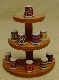 Wooden Thimble Display