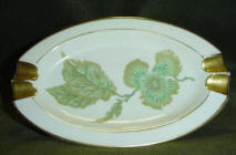 Gerold Porzellan Green Leaf Ashtray