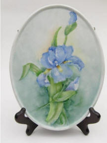 Handpainted Iris Tray