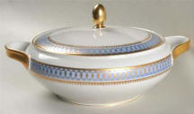 Blue Pageant Round Covered Dish