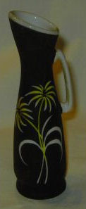 Black Art Deco Pitcher/Vase