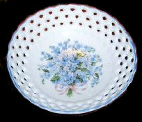 Blue Flowers Slotted Dish