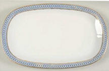 Blue Pageant Oval Platter