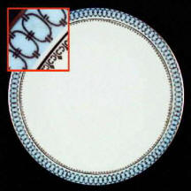 Blue Pageant Dinner Plate