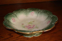 DecorativeGreen  Bowl with pink rose