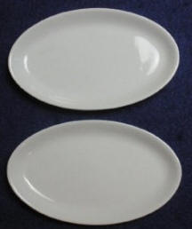 White Oval Pin Dish or Butter Pats