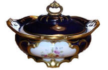 Blue Decorative Covered Dish