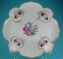 Plate with Raised Roses