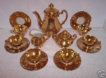 Gold Demitasse Set
