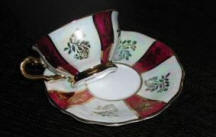 Maroon Cup & Saucer
